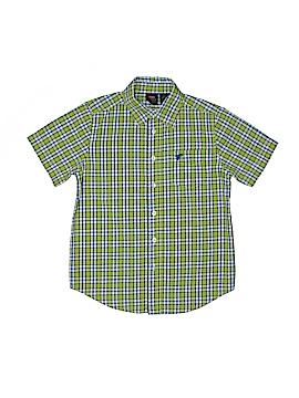 Wrangler Jeans Co Short Sleeve Button-Down Shirt Size M (Kids)