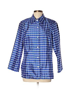 Nina Mclemore 3/4 Sleeve Silk Top Size 10