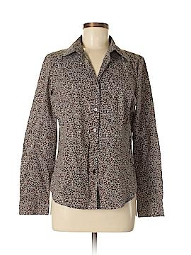 Kim Rogers Long Sleeve Button-Down Shirt Size M