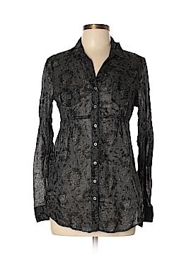 Miley Cyrus & Max Azria Long Sleeve Button-Down Shirt Size L