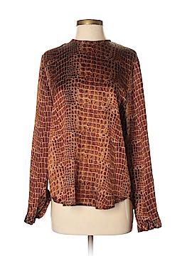Louis Feraud Long Sleeve Silk Top Size 8