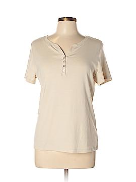 Karen Scott Short Sleeve Henley Size L