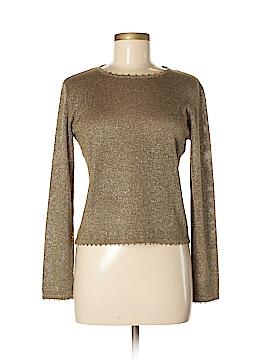 Carlisle Long Sleeve Silk Top Size M