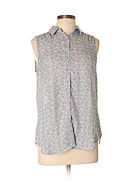 Fun2Fun Sleeveless Button-Down Shirt Size L