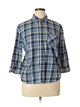 Laura Scott Long Sleeve Button-Down Shirt Size XL