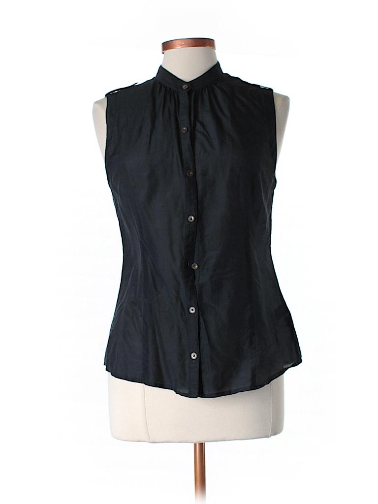 Banana Republic Women Sleeveless Button-Down Shirt Size M