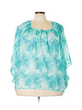 Adiva 3/4 Sleeve Blouse Size 1X (Plus)