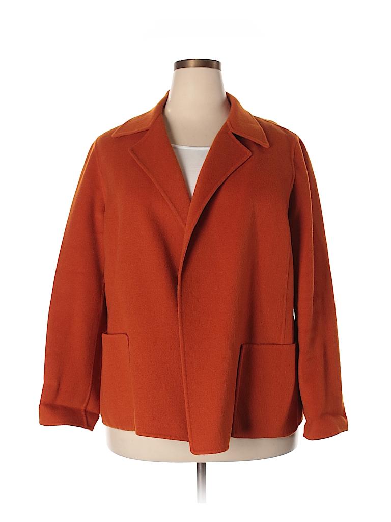 Linda Allard Ellen Tracy Women Wool Coat Size 16
