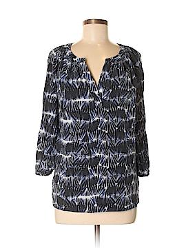 Cynthia Rowley for T.J. Maxx 3/4 Sleeve Silk Top Size M