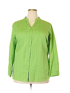 D&Co. Long Sleeve Button-Down Shirt Size 2X (Plus)