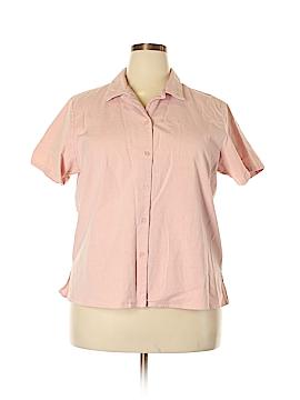 Denim Co Short Sleeve Button-Down Shirt Size 2X (Plus)