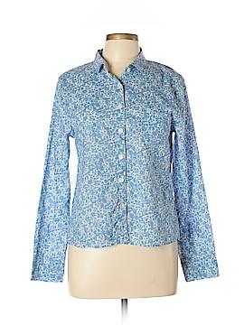 Tulip Long Sleeve Button-Down Shirt Size L