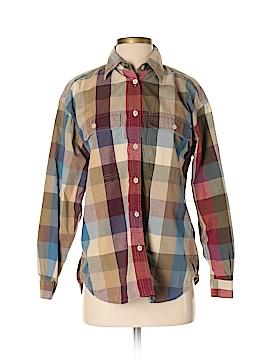 Lizsport Long Sleeve Button-Down Shirt Size S