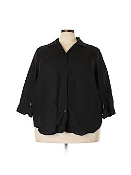 Lauren by Ralph Lauren 3/4 Sleeve Button-Down Shirt Size 2X (Plus)