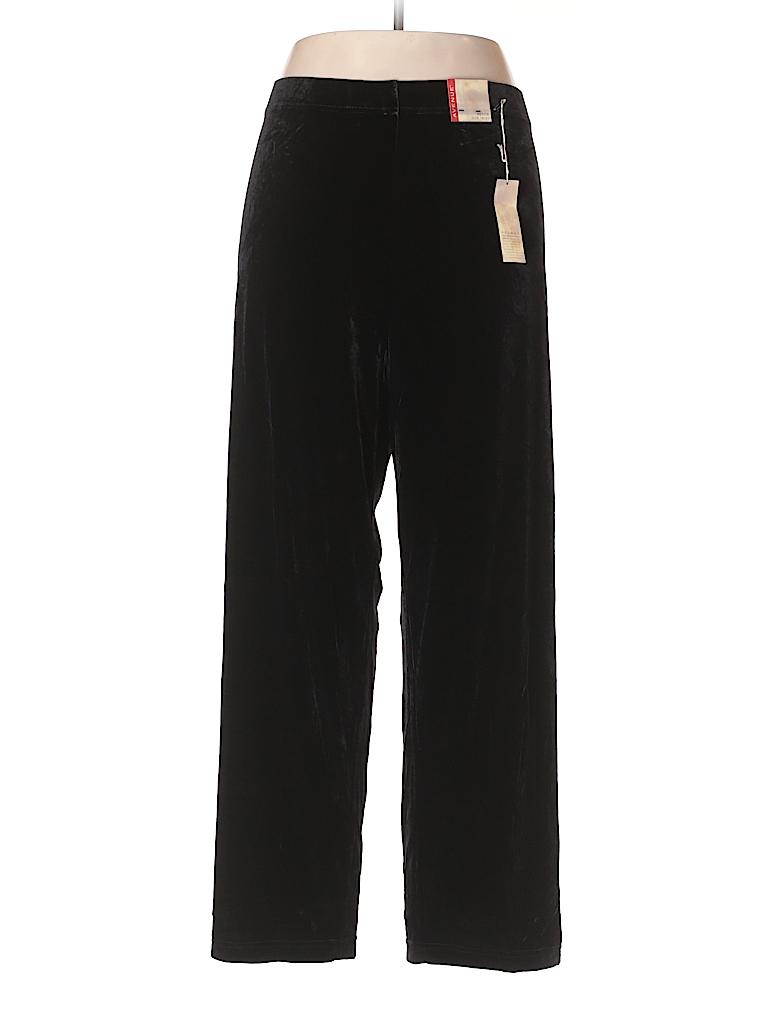 Avenue Women Velour Pants Size 18 (Plus)