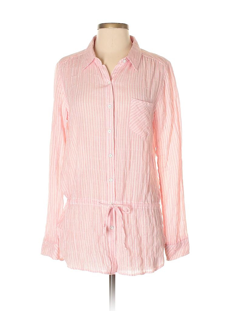 C&C California Women Long Sleeve Button-Down Shirt Size S