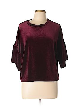 Tres Bien U.S.A. Short Sleeve Blouse Size L