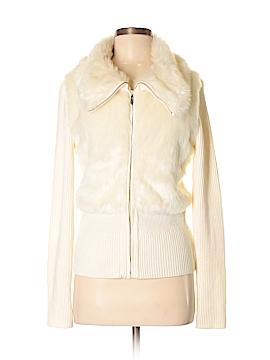 White House Black Market Faux Fur Jacket Size M