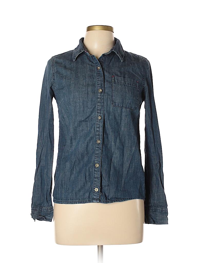 Feed USA + Target Women Long Sleeve Button-Down Shirt Size M