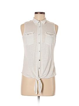 INC International Concepts Sleeveless Button-Down Shirt Size M