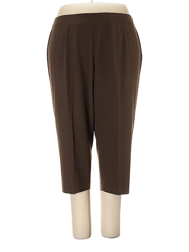 b7df11c31a5 Talbots Solid Brown Dress Pants Size 24W Petite (Plus) - 76% off ...