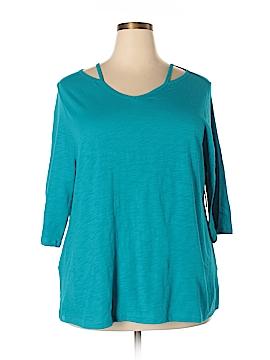 Catherines Short Sleeve Top Size 0XW Petite (Plus)