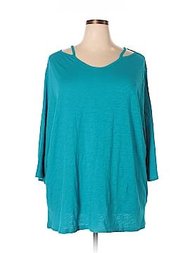 Catherines Short Sleeve Top Size 1XW Petite (Plus)