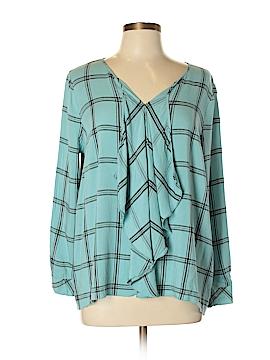 Kensie Long Sleeve Blouse Size L