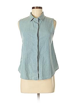 Rag & Bone/JEAN Sleeveless Button-Down Shirt Size M