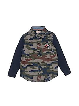 Kids Headquarters Long Sleeve Button-Down Shirt Size 5