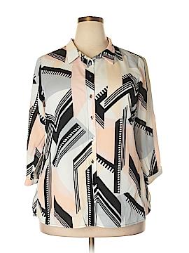 City Chic 3/4 Sleeve Blouse Size 12 Plus (XS) (Plus)