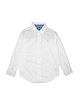 Nautica Long Sleeve Button-Down Shirt Size 7