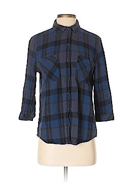 Seven7 3/4 Sleeve Button-Down Shirt Size S