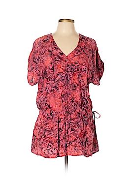 Cheryl Nash Windridge Short Sleeve Blouse Size L