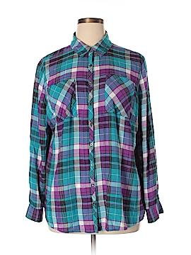 Relativity Long Sleeve Button-Down Shirt Size 2X (Plus)