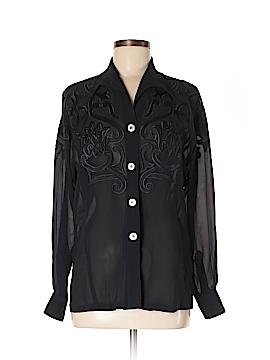 Escada Long Sleeve Silk Top Size M