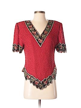Laurence Kazar New York Short Sleeve Blouse Size M