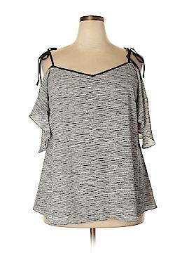 City Chic Short Sleeve Blouse Size 18 (Plus)