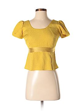 Burberry Short Sleeve Silk Top Size S