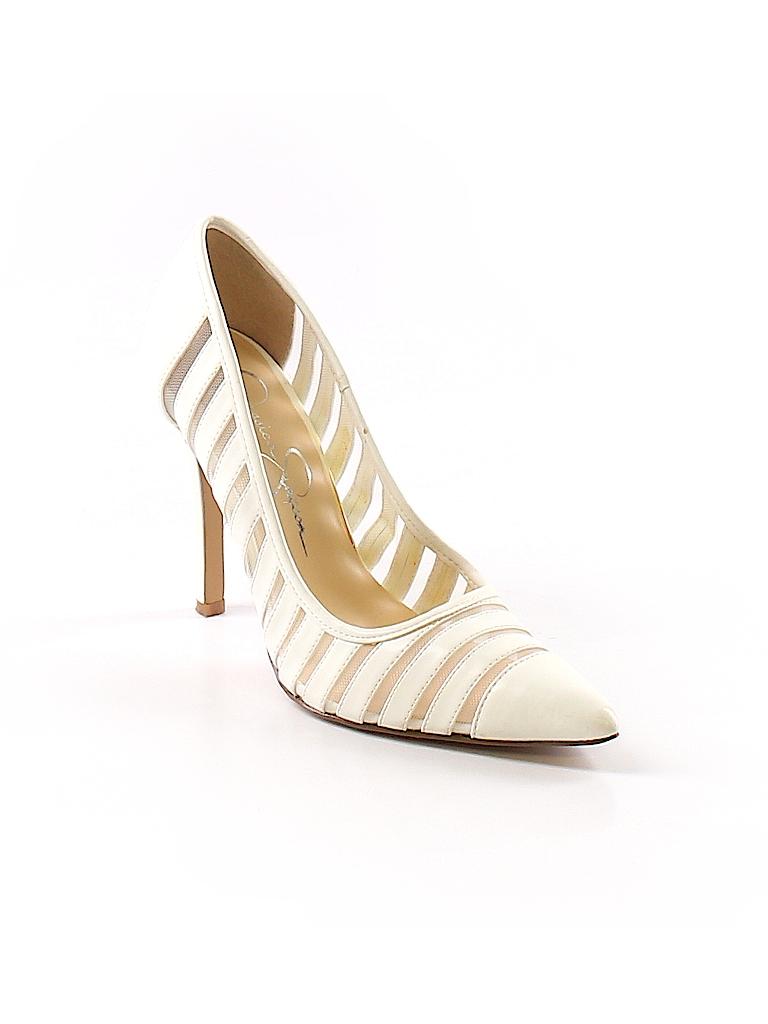 63de5bc269b Jessica Simpson Stripes White Heels Size 6 - 81% off