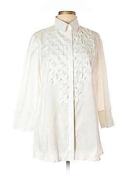 Yansi Fugel Long Sleeve Button-Down Shirt Size L