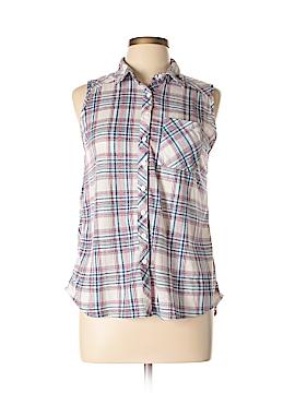 Passport Sleeveless Button-Down Shirt Size L