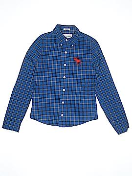 Abercrombie Long Sleeve Button-Down Shirt Size M (Kids)