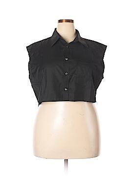 Signature 8 Sleeveless Button-Down Shirt Size Med - Lg