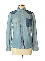 Buffalo by David Bitton Women Long Sleeve Button-Down Shirt Size M