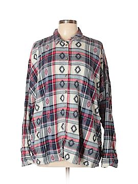 Topshop Long Sleeve Button-Down Shirt Size 12