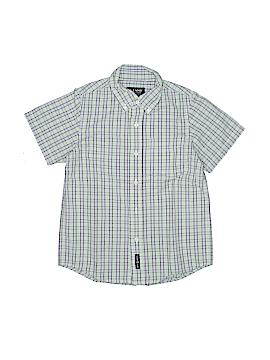 E-Land Short Sleeve Button-Down Shirt Size 8