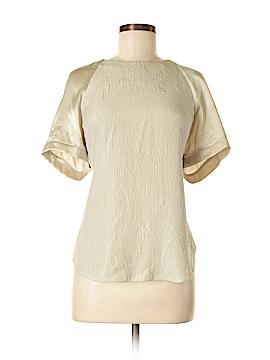 Rebecca Taylor Short Sleeve Silk Top Size 12