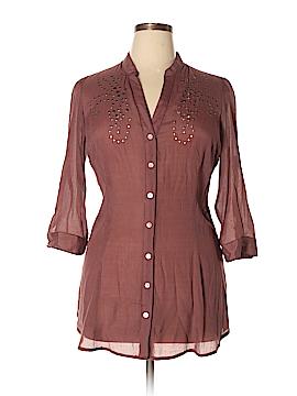 Roper 3/4 Sleeve Button-Down Shirt Size L