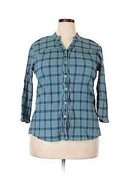 Woolrich 3/4 Sleeve Button-Down Shirt Size XL